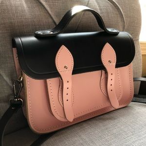 Pink and Black Cambridge Satchel